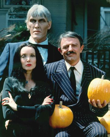 Carolyn Jones, Ted Cassidy, and John Astin (1964) The Addams Family