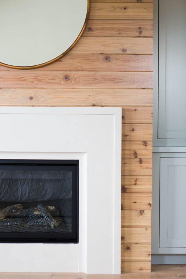 tongue and groove fireplace