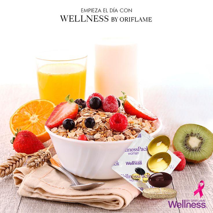 Nada como un desayuno completo para comenzar tu día #Wellness #Oriflame #VidaSaludable