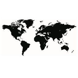 Väggdekor  Världskarta