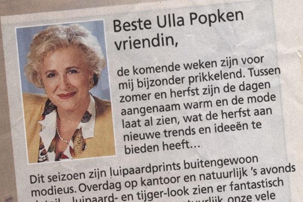Beste Ulla Popken vriendin,  De komende weken zijn voor mij bijzonder prikkelend....  Dit seizoen zijn luipaardprints buitengewoon modieus.