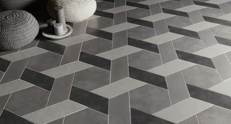 Natucer Chevron Concrete tile | #coverings2016