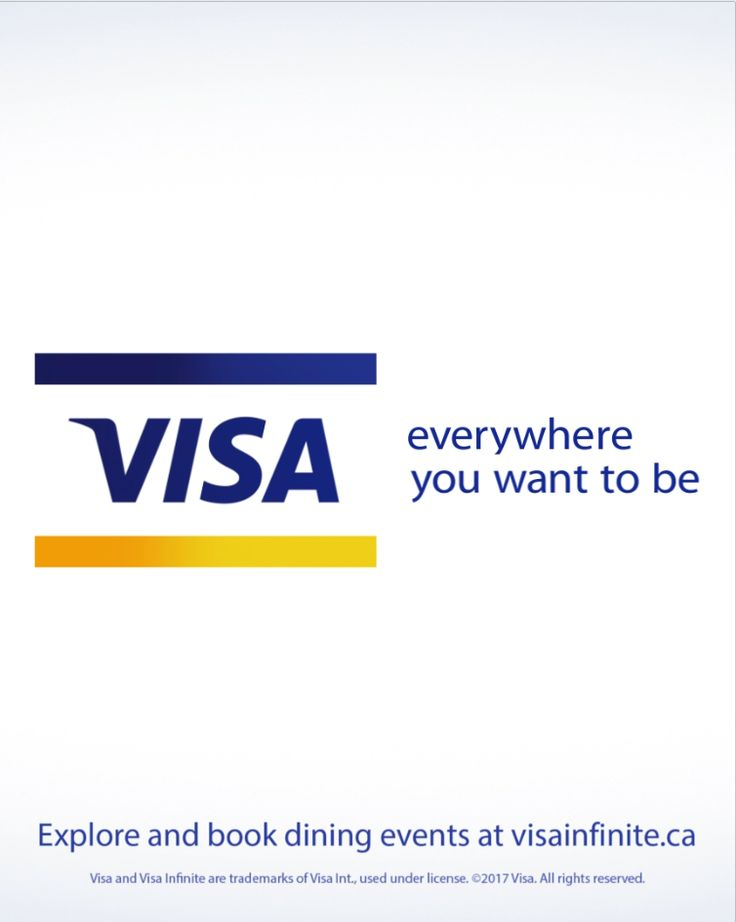 If your card says Visa Infinite, you already have access to incredible, one-night-only dining events with the Visa Infinite Dining Series. Click to explore events.