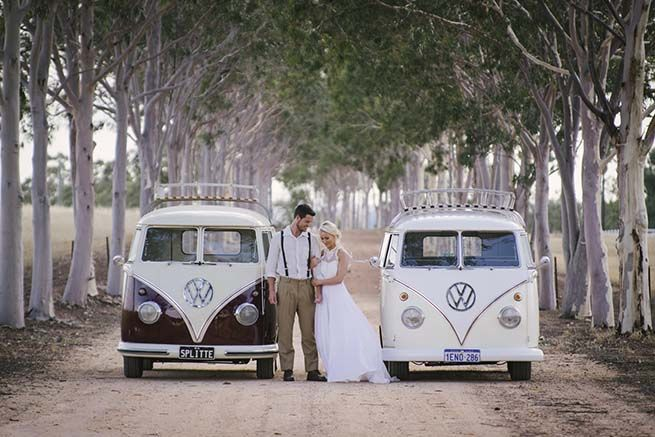 Country Wedding Inspiration by Vintage VW Charter Kombi Van - One Fine Day One Fine Day