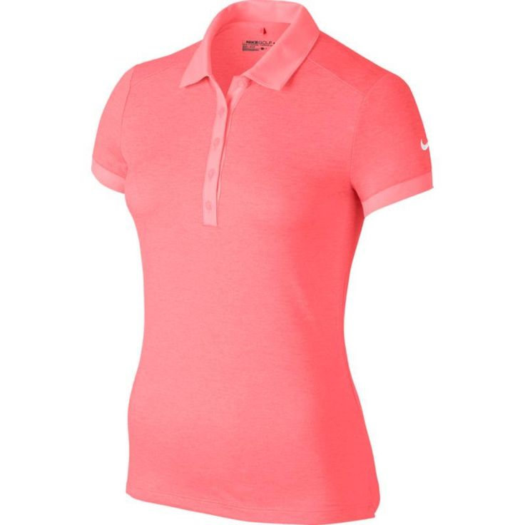 Nike Women's Victory Texture Golf Polo, Size: Large, Lava Glow