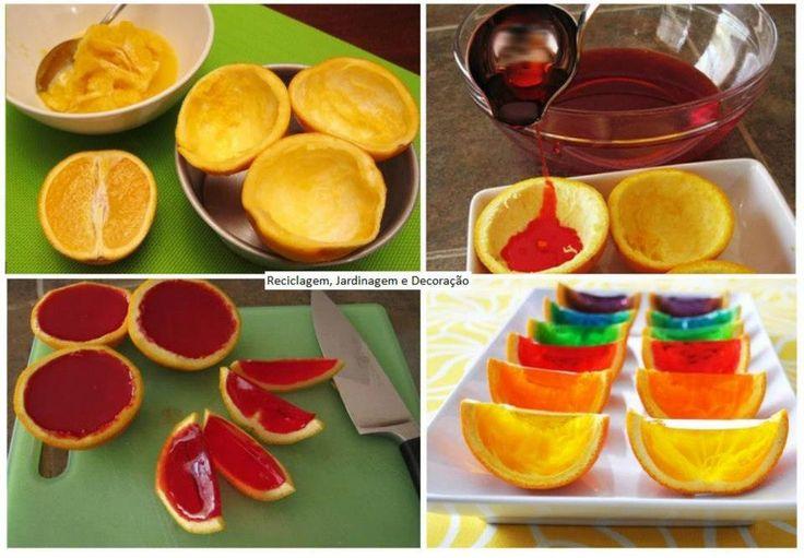 ζελεδάκια σε πορτοκαλόκουπες