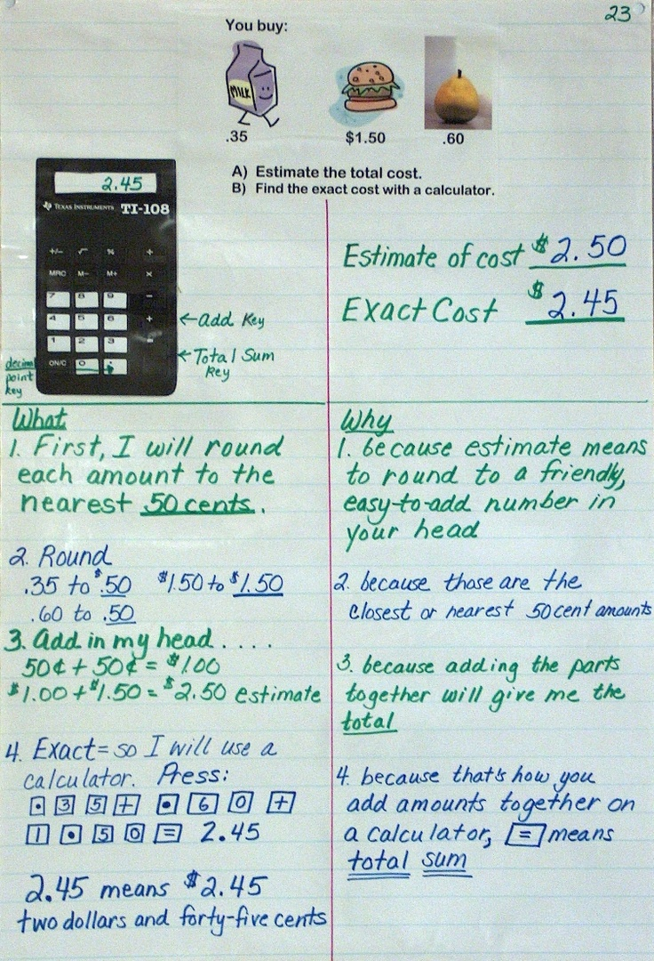 Worksheet Mathematical Rounding 78 ideas about rounding anchor chart on pinterest great and example of documenting your thought process for later use by students