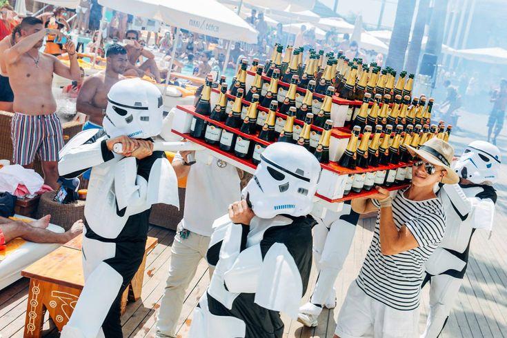 Star Wars themed party at Nikki Beach Marbella