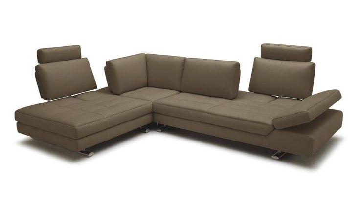 canape angle gauche cuir taupe9922 appuie tete accoudoir reglable minho mobiliermoss