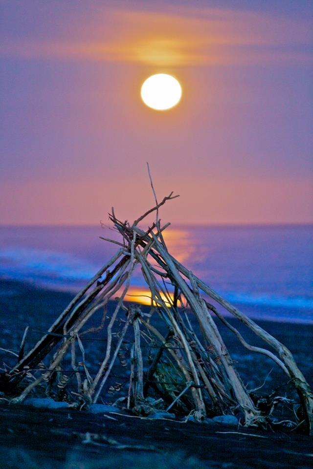 Full moon, Kaikoura