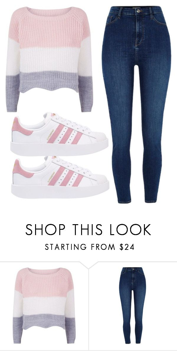 """""""Untitled #24"""" by evelinefeitosaneres on Polyvore featuring River Island and adidas Originals"""