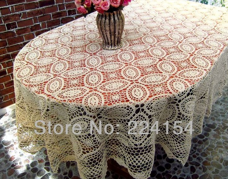 Aliexpress.com : Buy 160x220 CM Vintage look handmade crochet tablecloth beige color~ oval  ~ FREE SHIPPING from Reliable vintage tablecloth suppliers on Handmade Shop $149.00