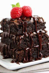 Raspberry Truffle Brownies~~