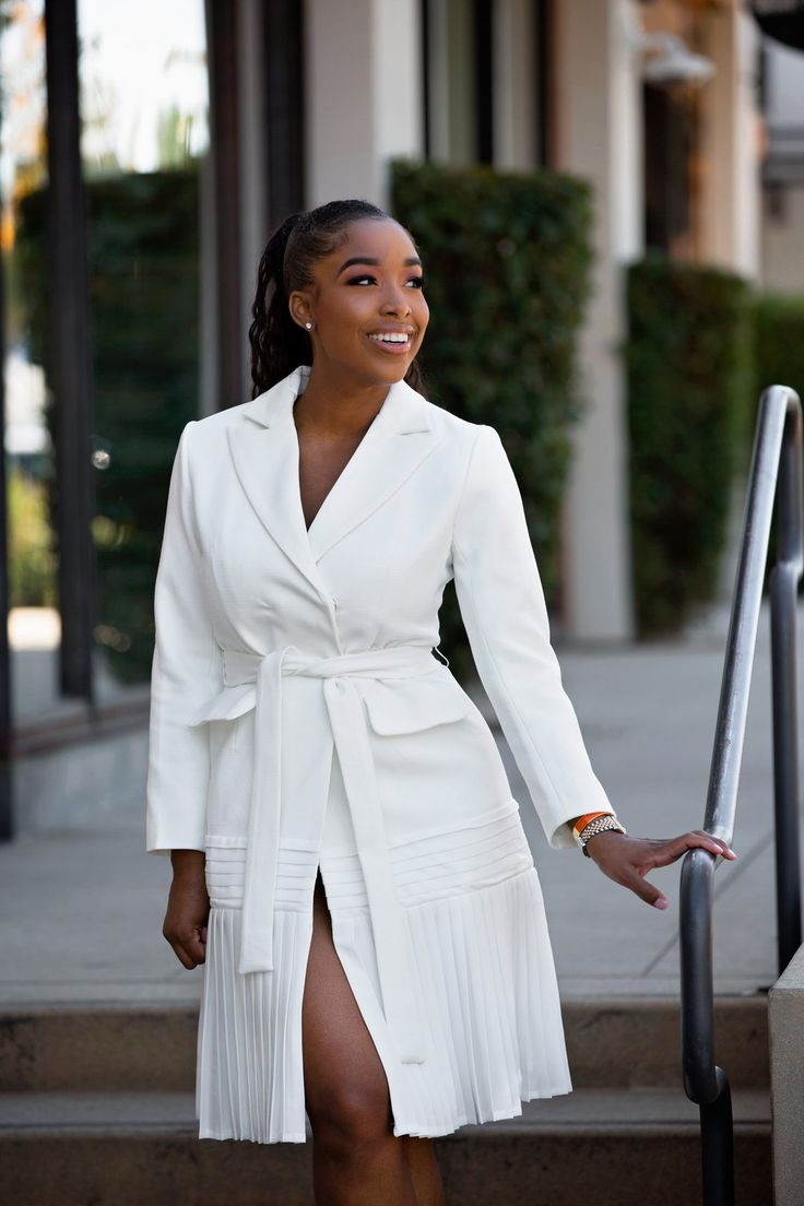 Pleat Me | Tuxedo Dress in 2019 | Tuxedo dress, Dresses, Blazer dress