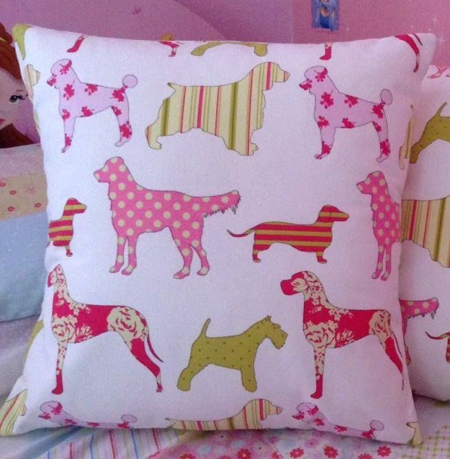 Dogs Green & Pink