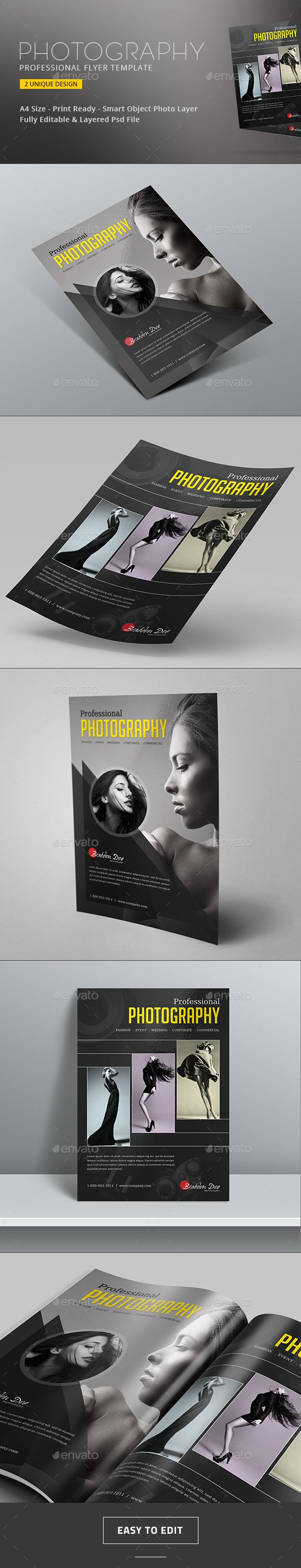 PSD Wedding Photography Flyer Template • Only available here ➝ http://graphicriver.net/item/photography-flyer/16264207?ref=pxcr