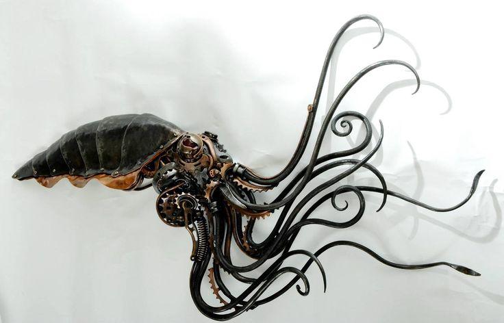 Steampunk Squidipus by Alan Williams metal artist