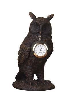 """Owl with Pocket Watch Shelf Vintage Clock - 5 7/8"""" x 4"""" x 7 1/2"""""""