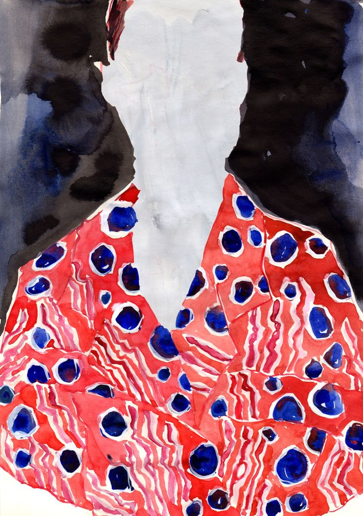 Fashion Illustrations of 2016 collections in watercolor, by © Eunjeong Yoo 2016.