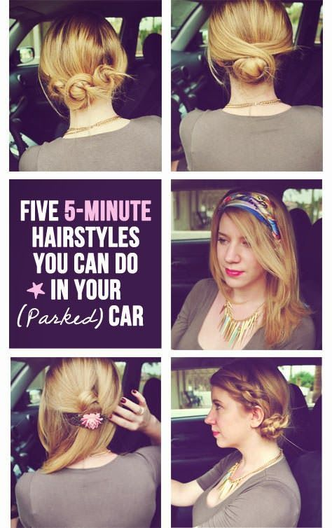 Quick And Easy Hairstyles You Can Do In Your Parked Car
