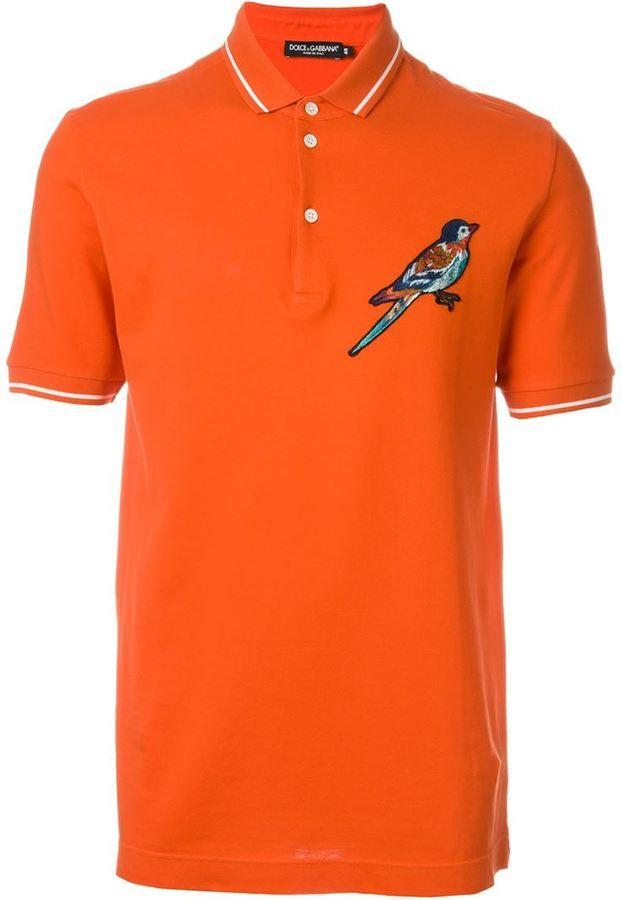 Dolce & Gabbana embroidered bird polo shirt
