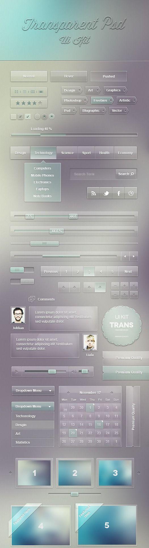 Free Transparent UI Kit
