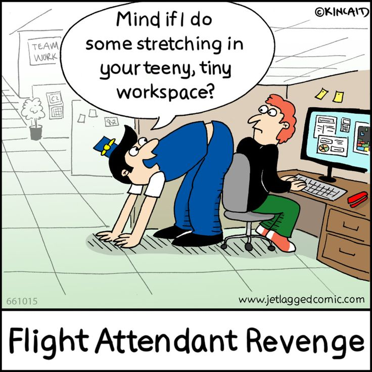 Jetlagged Comic, a cartoon for flight crews, created by current flight attendant Kelly Kincaid.