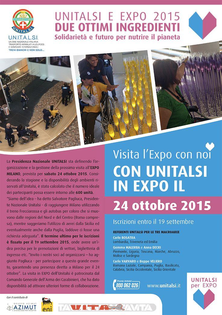 Ancora pochi giorni per decidere di visitare Expo Milano 2015 con #Unitalsi il 24 ottobre http://www.unitalsi.info/ita/web/item.asp?nav=1708&utm_content=bufferc05cb&utm_medium=social&utm_source=pinterest.com&utm_campaign=buffer