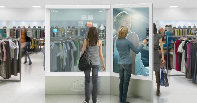 Le prototype de vitre interactive pour magasins dIntel - Source
