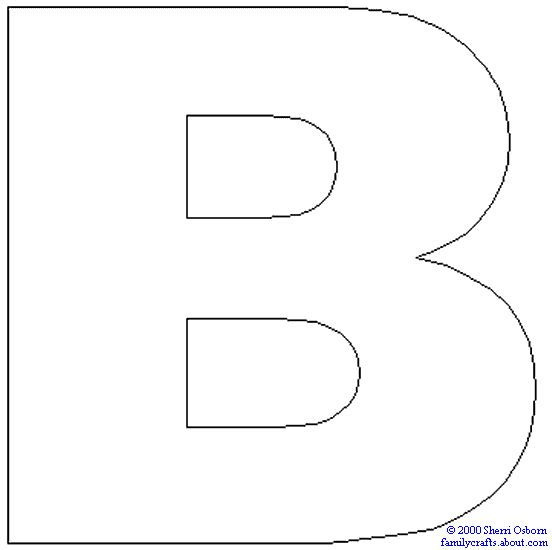 b coloring pages free - photo #28