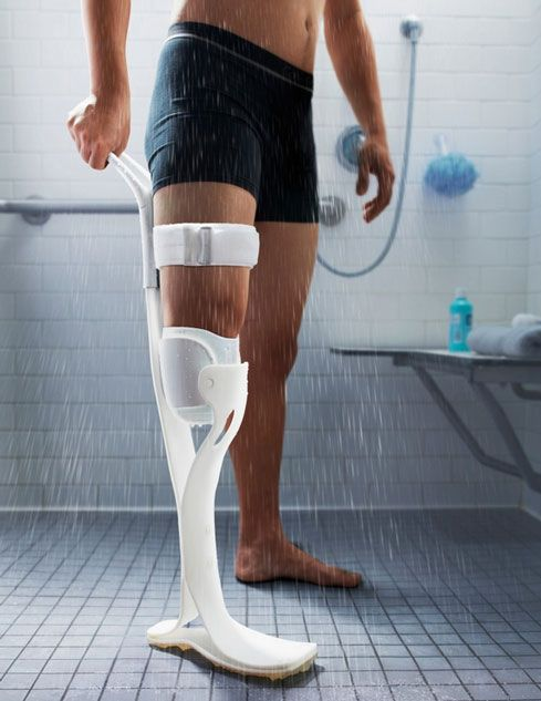 Prosthetic legs are becoming more sophisticated every year. They are not all designed to be used in shower. Lytra is a prosthetic leg that makes it easier for amputees to shower and wash their residual limb. Lytra is made from acrylic sheets. Its height can be adjusted to the level of amputation.