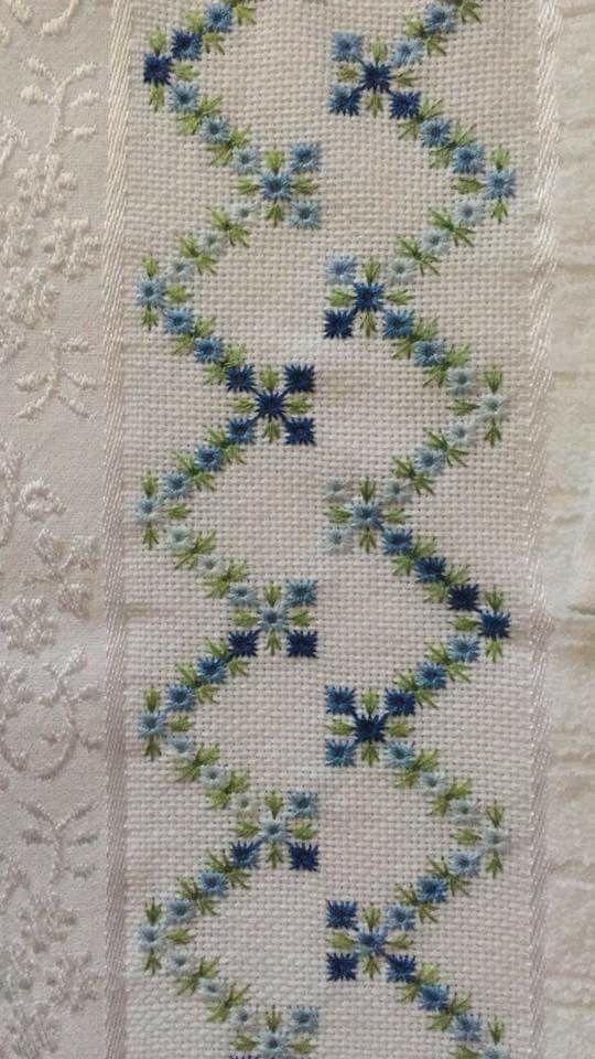 Image result for bordado hardanger toalha banho