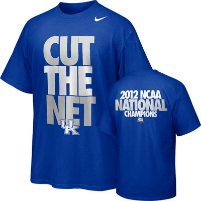 Kentucky Wildcats Royal Nike 2012 NCAA Basketball National Champions Celebration Cut The Net T-Shirt