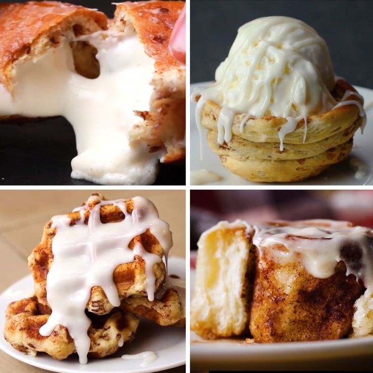 Title Cinnamon Rolls 4 Ways