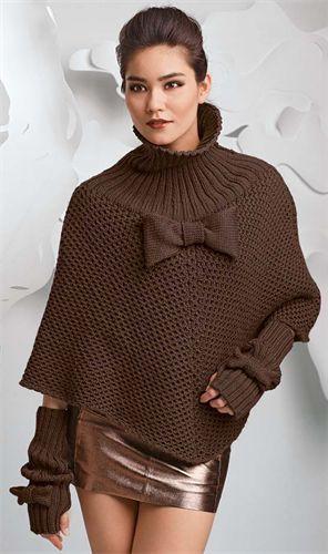 Bergere de France Origin Poncho Knitting Pattern