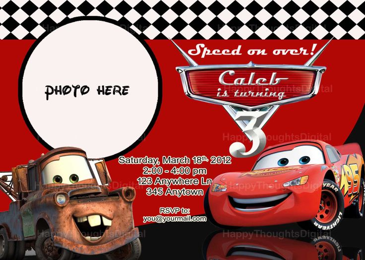14 best Cars Invite images – Cars Birthday Invitation Templates