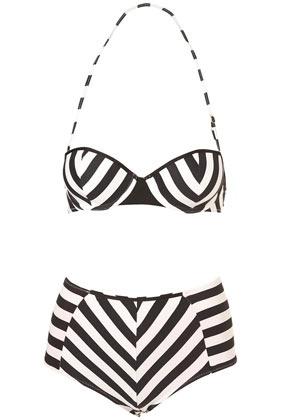 topshop bikini. $60: Vintage Swimsuits, Stripes Bikinis, Bathing Suits, Style, Balconette Bikinis, Retro Swimsuits, Vintage Bath Suits, Black White, Stripes Balconette