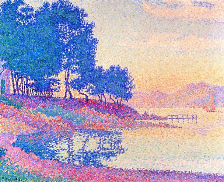 An Cove in Saint-Tropez~ Paul Signac | Lone Quixote | #PaulSignac #signac #impressionism #pointilism #art