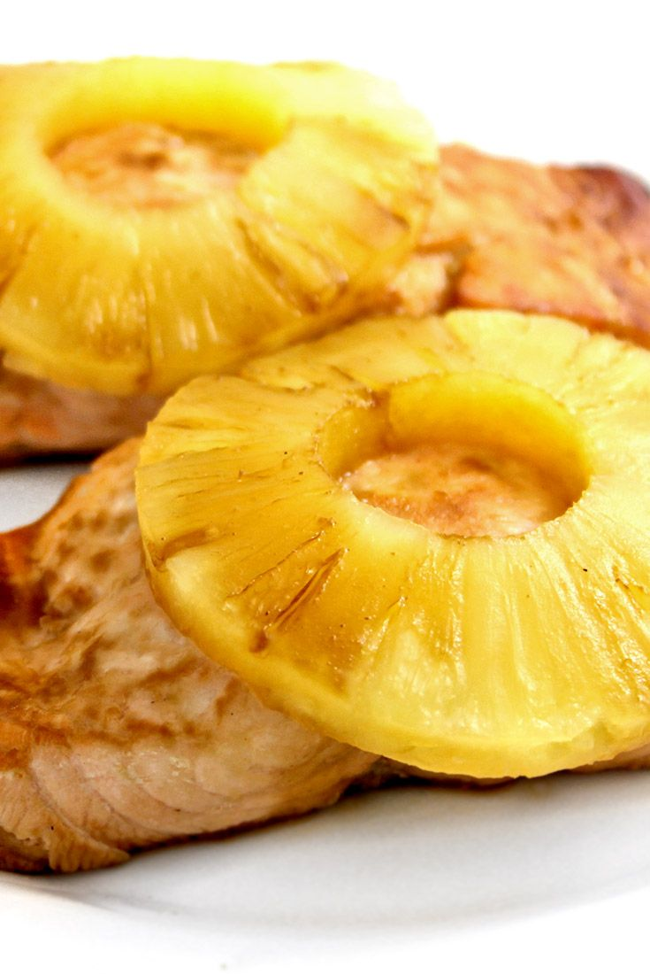(NEW recipe) Teriyaki Pineapple Salmon, 4 ingredients! The flavors of teriyaki, pineapple juice and lemon create a fabulous, easy marinade and glaze. Each serving, 260 calories, 9g fat & 6 Weight Watchers POINTS PLUS. http://www.skinnykitchen.com/recipes/teriyaki-pineapple-salmon-4-ingredients/