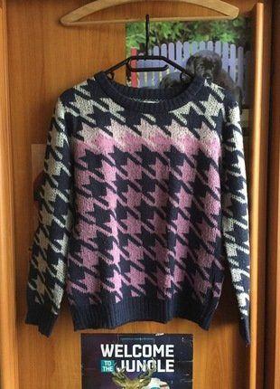 Kupuj mé předměty na #vinted http://www.vinted.cz/damske-obleceni/s-dlouhymi-rukavy/15843581-barevny-pleteny-svetr-se-zajimavym-vzorem