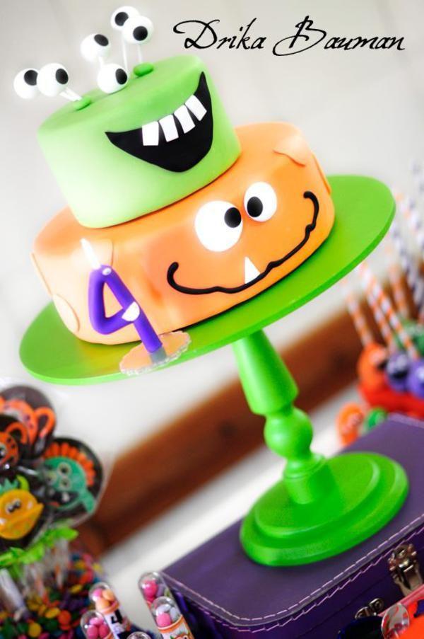 Monster themed birthday party via Kara's Party Ideas | KarasPartyIdeas.com #monster #birthday #party #ideas (18)
