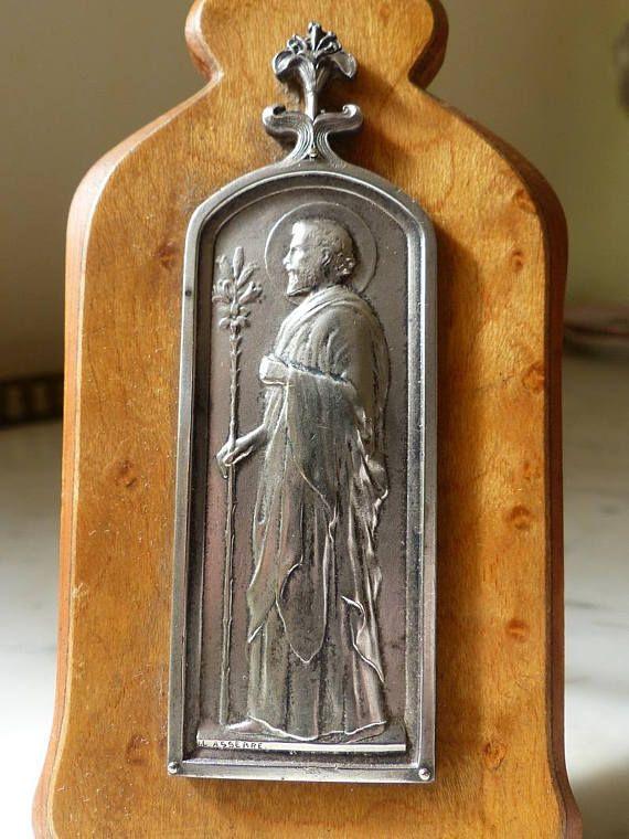Christian metal art. Framed metal art. Religious frame. Saint