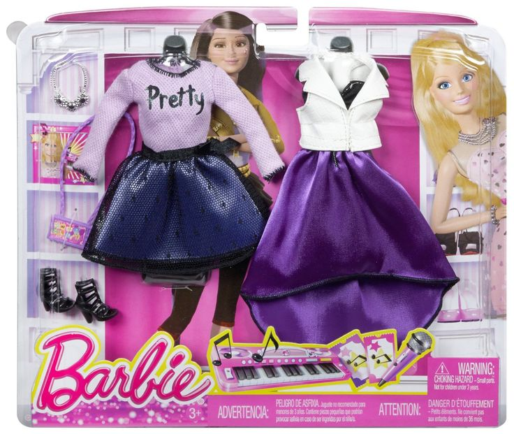 Barbie Fashion Complete Look 2-Pack, Pop Concert Set www.amazon.com/Barbie-Fashion-Complete-2-Pack-Concert/dp/B00M5AUHO2/ref=pd_sim_t_4?ie=UTF8&refRID=1WQDBMAACE75986M6KHV