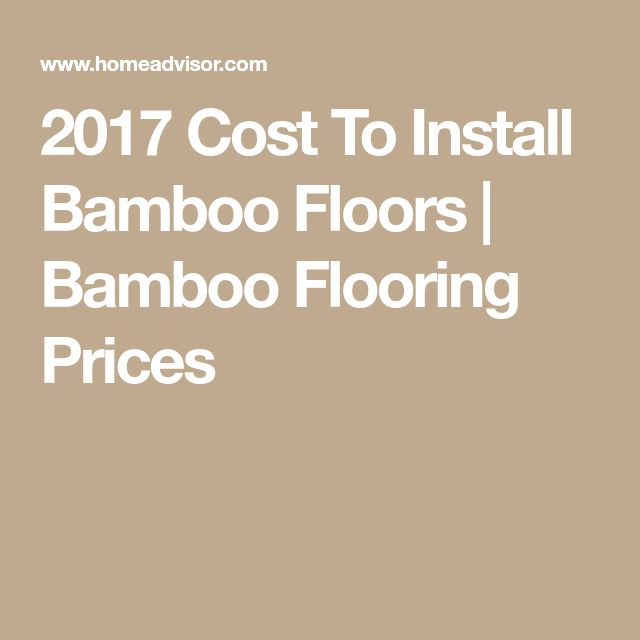 2017 Cost To Install Bamboo Floors | Bamboo Flooring Prices