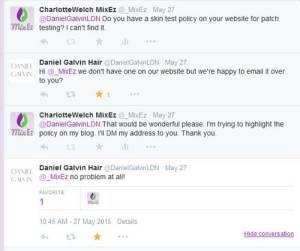 Daniel Galvin – Skin Allergy Test Policy