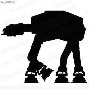 Star Wars AT-AT walker computer decal