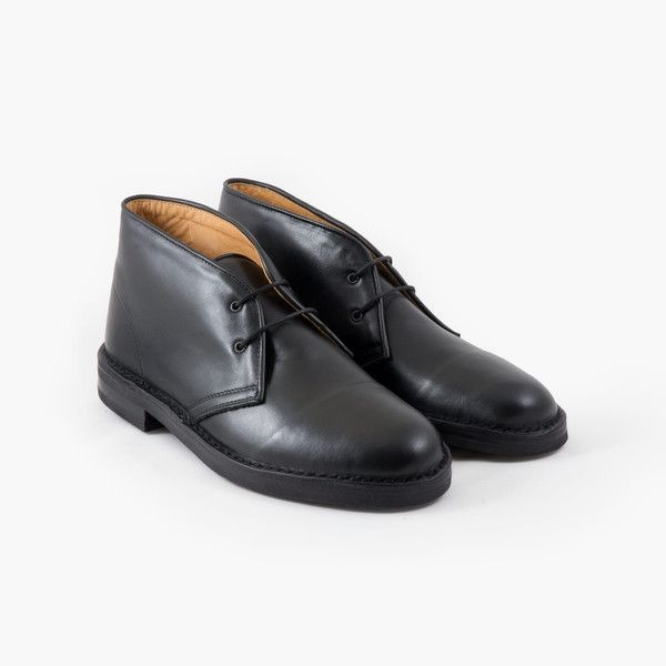Desert Boots in Italian Full-grain Leather – Black