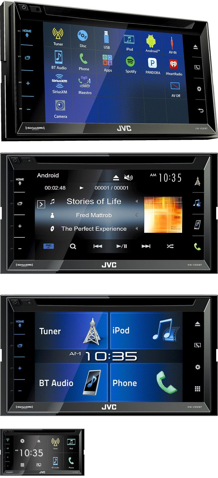 Video In-Dash Units w o GPS: New Jvc Kw-V330bt 2 Din Dvd Cd Player 6.8 Lcd Android Iphone Bluetooth Siriusxm -> BUY IT NOW ONLY: $219 on eBay!