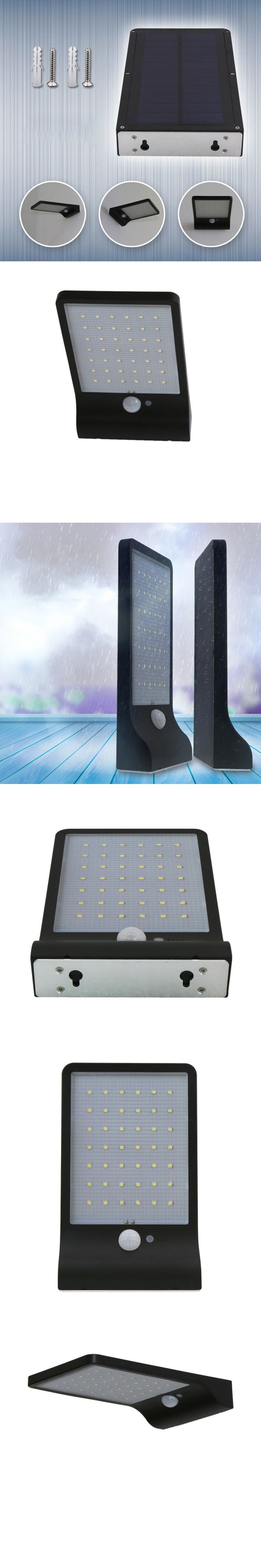 Street Waterproof Wall Lights 450LM 36 LED Solar Power Street Light PIR Motion Sensor Lamps Garden Security Lamp Outdoor