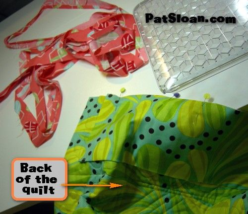 how to put binding on a quilt by machine